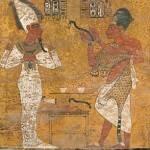 Nefertiti scansione su affresco