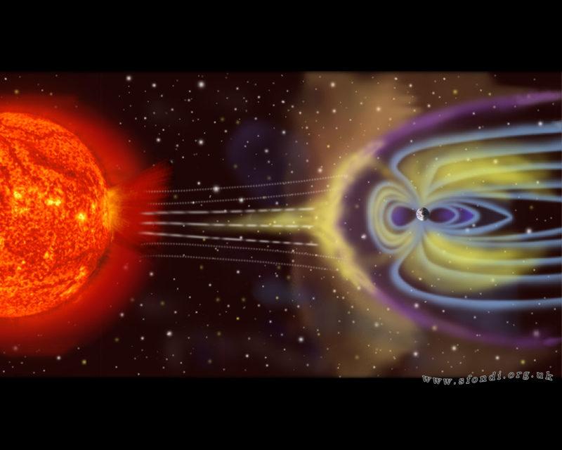 magnetosphere rendition