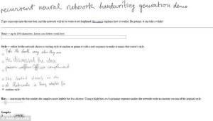 programma che simula la calligrafia