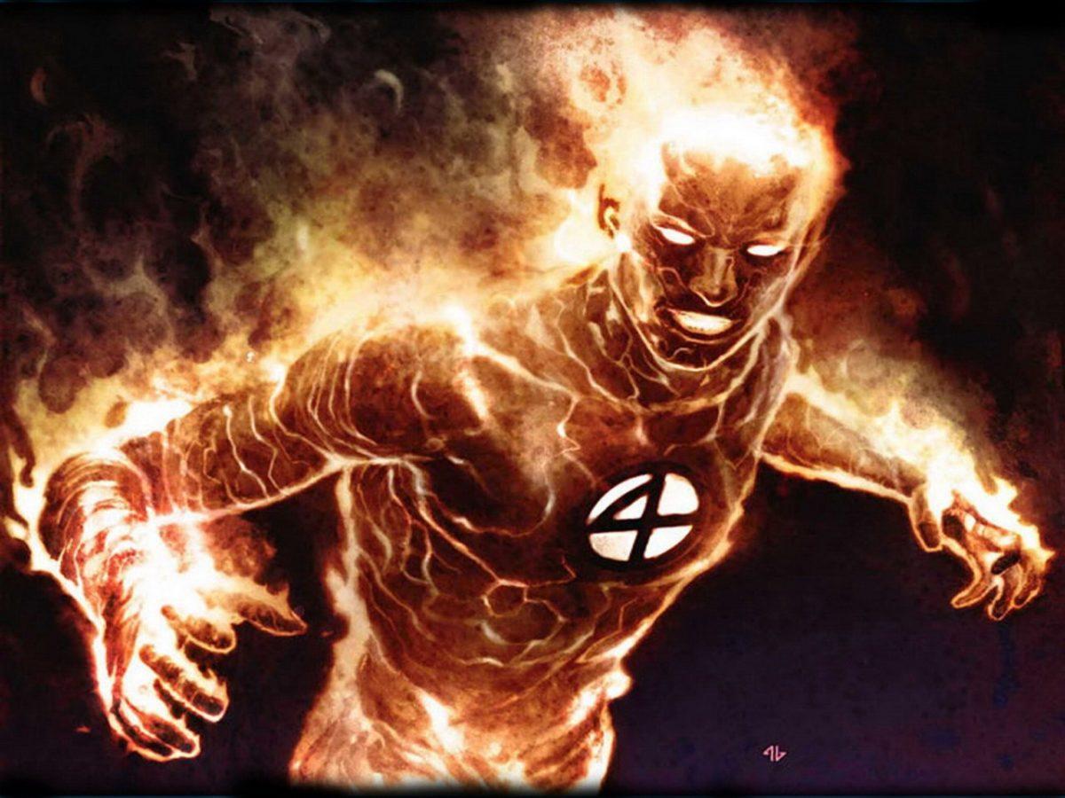 fantastic four marvel comics human torch, fantastici 4