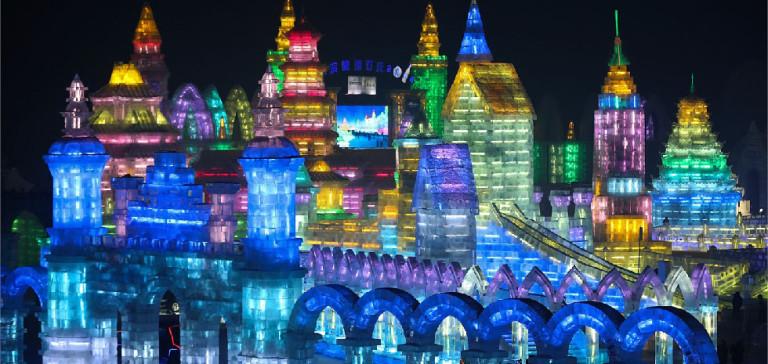 Festival del Ghiaccio di Harbin con le sue sculture di ghiaccio