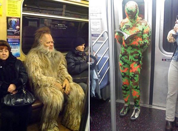 super eroi in metro