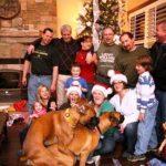 Foto di famiglia cani che scopano