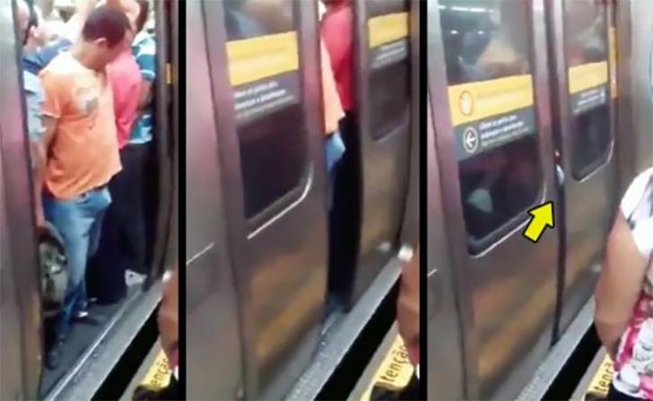 maschietti maniaci, cazzo nelle porte della metro