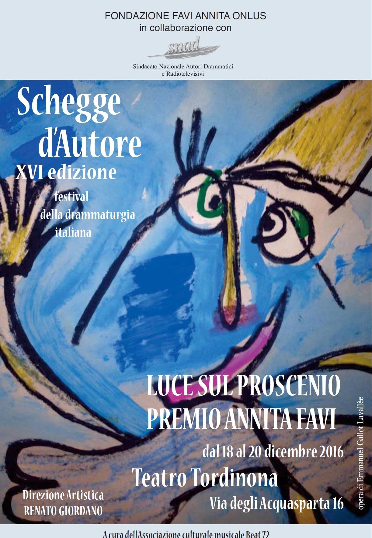 schegge d'Autore al teatro Tordinona. Festival della Drammaturgia Italiana 1