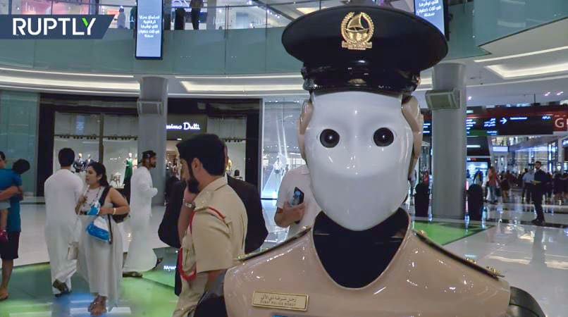 Il poliziotto robot come Robocop è reale guarda il video